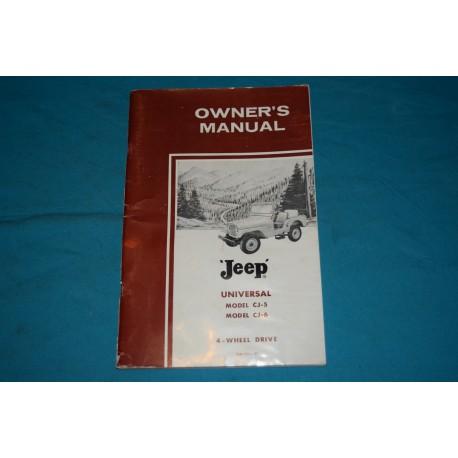original 1963 willys cj 5 cj 6 jeep owners manual rh thegloveboxshop com