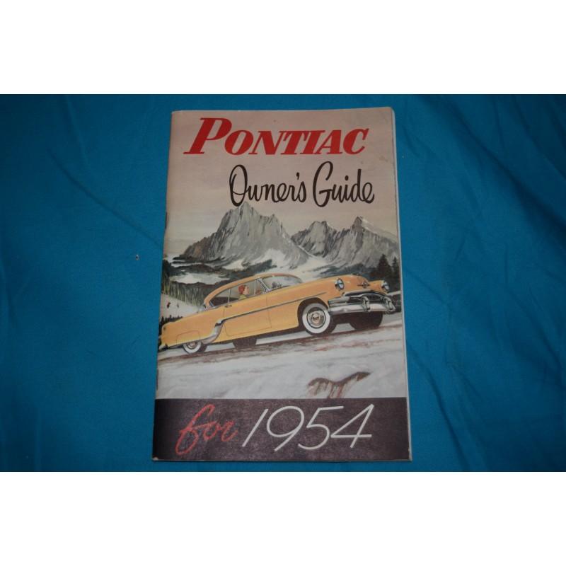 original 1954 pontiac owners manual rh thegloveboxshop com pontiac pursuit owners manual pontiac vibe owner's manual
