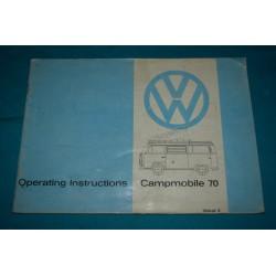 1970 -1972 Volkswagen Westfalia supplement