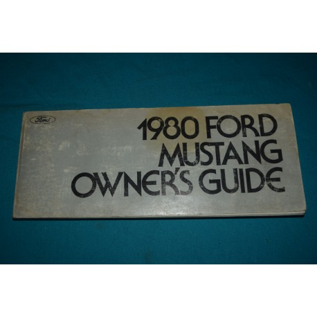 original 1980 ford mustang owners manual rh thegloveboxshop com Ford Mustang Manual Transmission 2013 Mustang Manual Transmission
