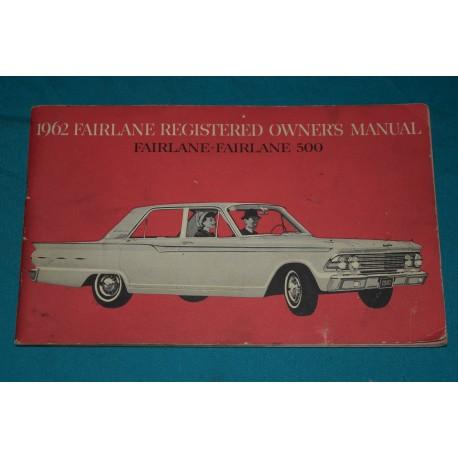 original 1962 ford fairlane owners manual rh thegloveboxshop com 1961 Ford Fairlane 1961 Ford Fairlane