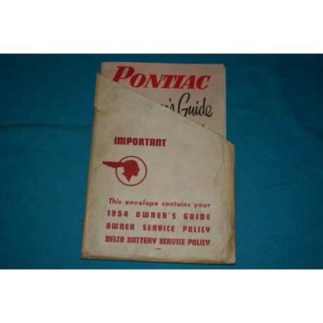 1954 Pontiac Owners manual
