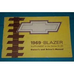 1969 Blazer supplement