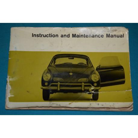 original 1967 volkswagen karmann ghia owners manual type 14 rh thegloveboxshop com vw karmann ghia workshop manual pdf vw karmann ghia workshop manual