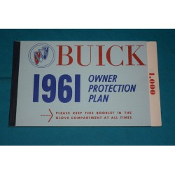 1961 Buick Owner Warranty book NOS