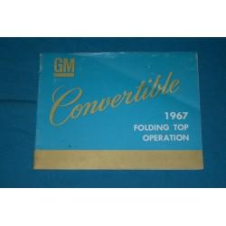 1967 Cadillac Convertible top operation manual
