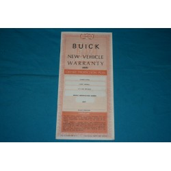 1969 Buick Owner Warranty book NOS