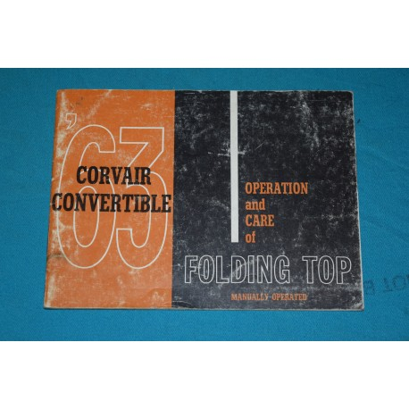 1963 Corvair Convertible top operation manual