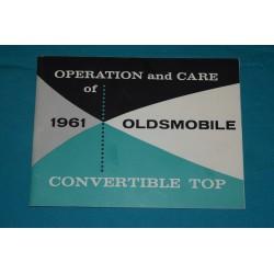 1961 Oldsmobile Convertible top operation manual