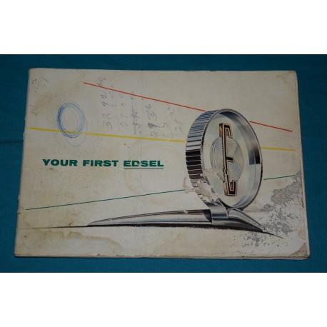 original 1958 ford edsel owners manual rh thegloveboxshop com User Manual PDF Cartoon Manual