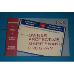 1966 NOS AMC warranty book