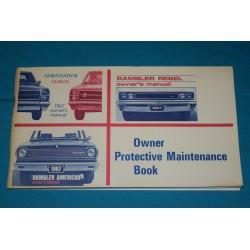 1967 NOS AMC warranty book