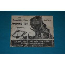 1949 C - Body Convertible Top Operation Manual