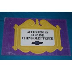 1972 Chevrolet  Accessories manual