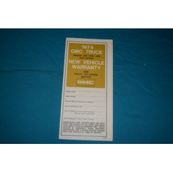 1974 GMC Jimmy Owner Protection plan NOS