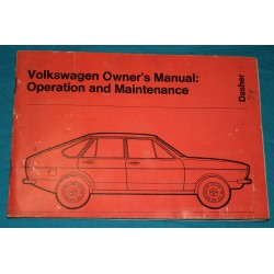1974 Volkswagen Dasher Owners Manual