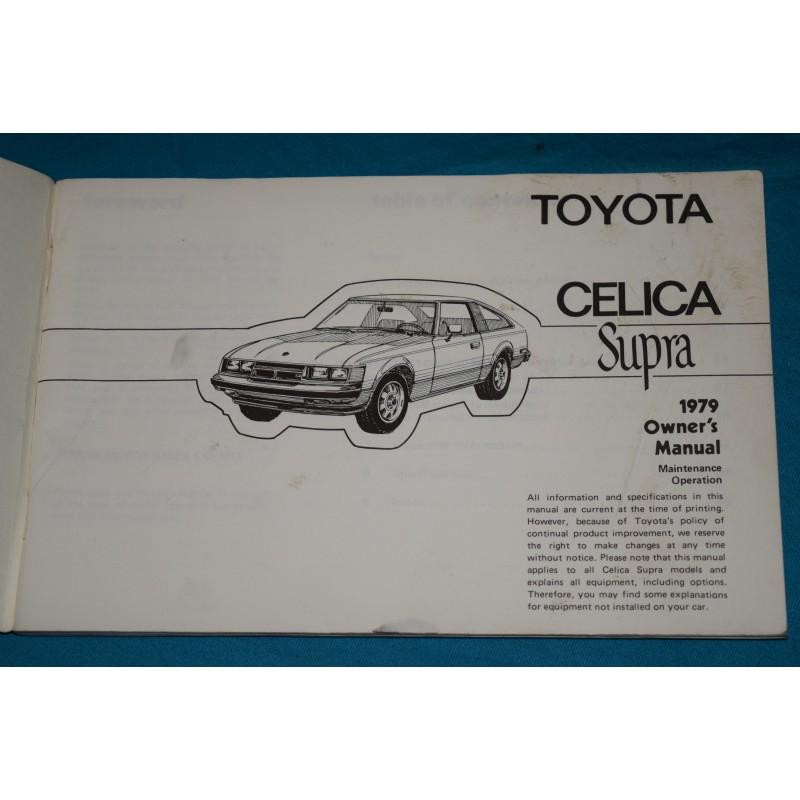original 1979 toyota celica supra owners manual rh thegloveboxshop com 1994 toyota supra owners manual 1989 toyota supra owners manual