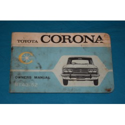 1969 Toyota Coronoa Owners manual
