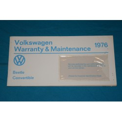 1976 Volkswagen type 1 Warranty Unused