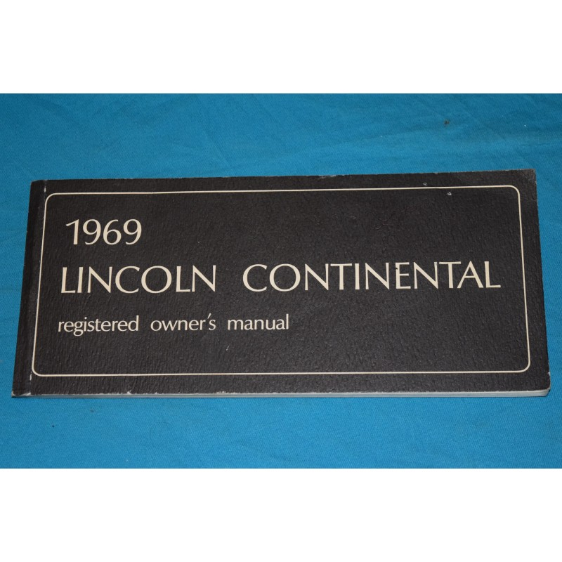 original 1969 lincoln continental owners manual. Black Bedroom Furniture Sets. Home Design Ideas