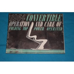 1964 Convertible Power top operation manual