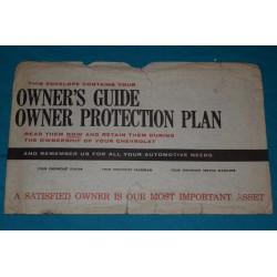1961 - 1963 Chevrolet Owners Manual Bag / Envelope