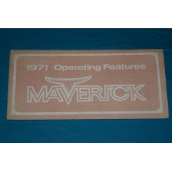 1971 Ford Maverick Owners manual