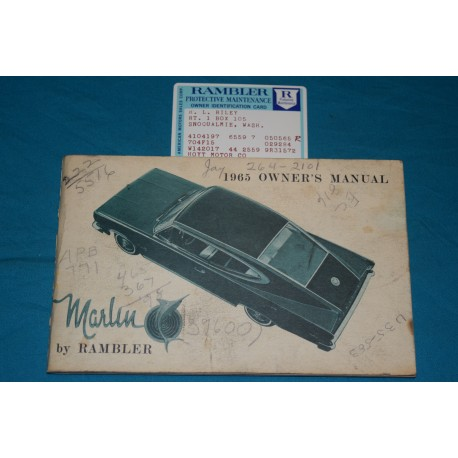 original 1965 amc marlin owners manual rh thegloveboxshop com 1964 Rambler 1963 Rambler