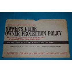 1960 - 1961 Owners Manual Bag / Envelope