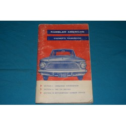 1961 AMC Rambler American Owners manual