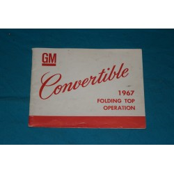 1967 F-Body Convertible top operation manual