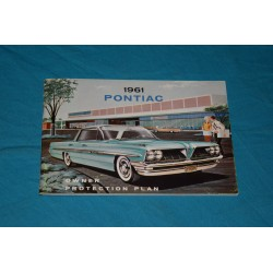 1961 Pontiac Warranty book NOS