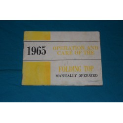1965 Convertible Manual top operation manual