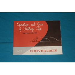 1962 Convertible Power top operation manual