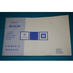 1973 Buick Riviera owners manual