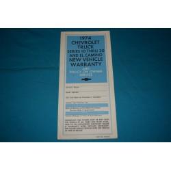 1974 Blazer Protection plan NOS
