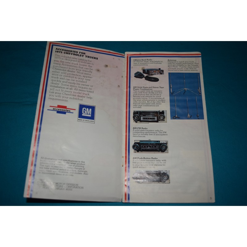 Original 1976 Chevrolet Truck Custom Feature Accessories manual